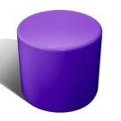 Drum stool seat in purple