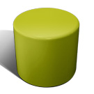 Drum stool seat in sage