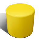 Drum stool seat in yellow