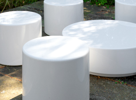 2. Drum seats create a welcoming space in residential and commercial areas.