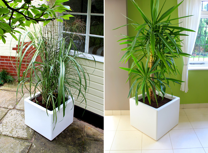 Cube planters are composite moulded - strong, durable, high quality.