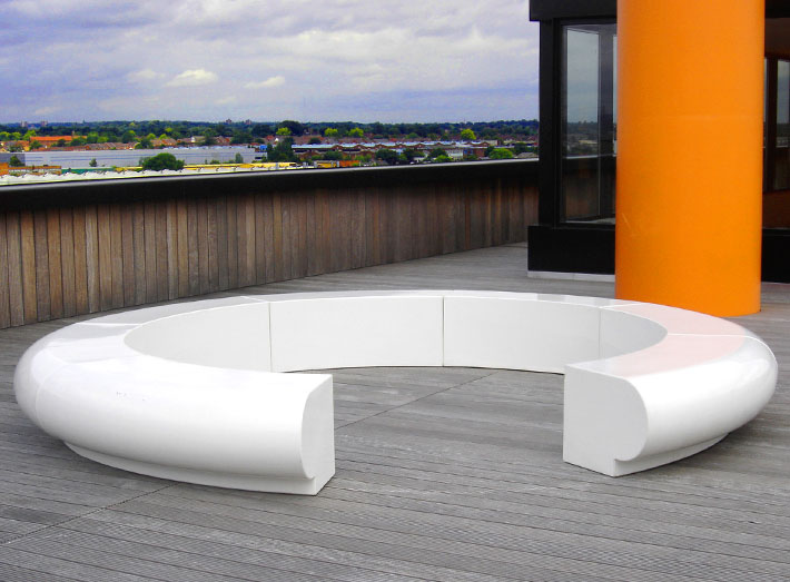 10. Simple curves and colour add beauty and value to meeting areas, showrooms, exhibitions, foyers and lobbies.
