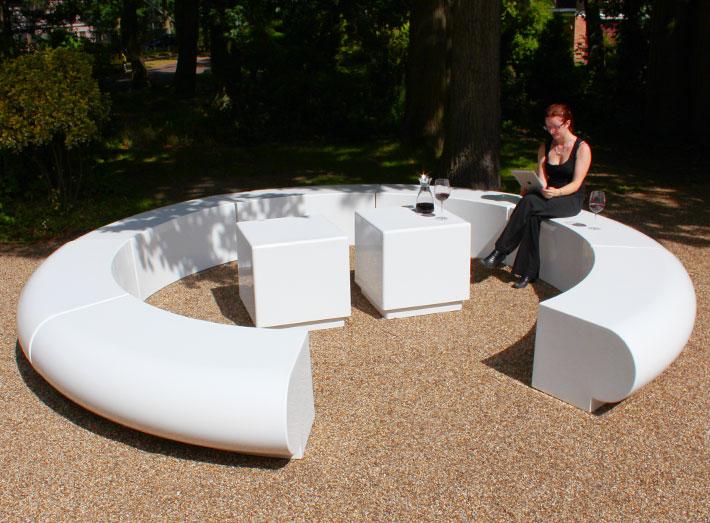 12. A Corona striking circular seating arrangement is 4 metres in diameter.