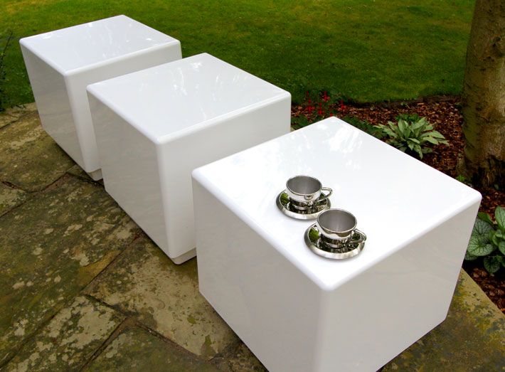 Cube seating and tables are ideal as standalone features or part of a modular display.