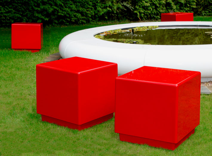 Durable, Cube composite moulded seating stands up to the rigours of heavy everyday use.