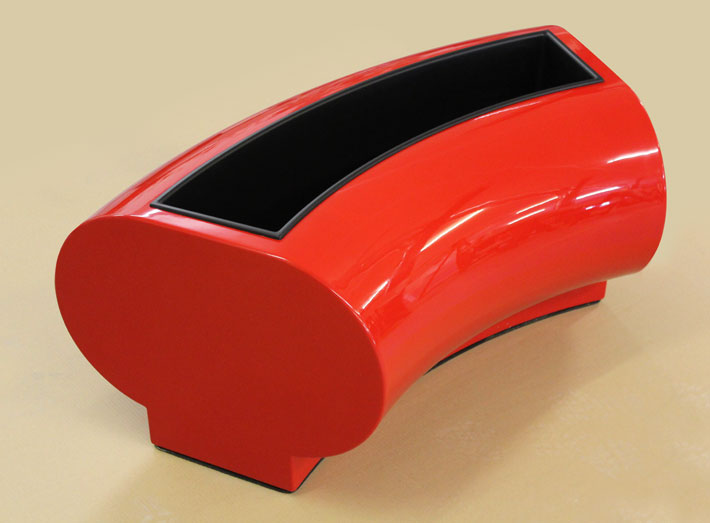 Halo planters can be made in any colour to match any interior or corporate colour, with rubber anti-slide base.