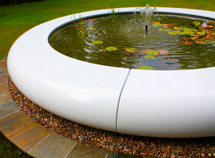 4. The stunning circular water feature is modular in construction and is easy-to-install into garden landscapes.