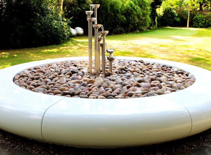 7. Aqua Corona makes a playful addition to modern exteriors and interiors.