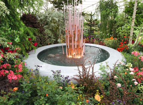 8. Water Features at the Hillier exhibit, RHS Chelsea Flower Show.