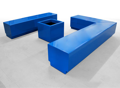 2. Modern, modular furniture ideal for recreational spaces.