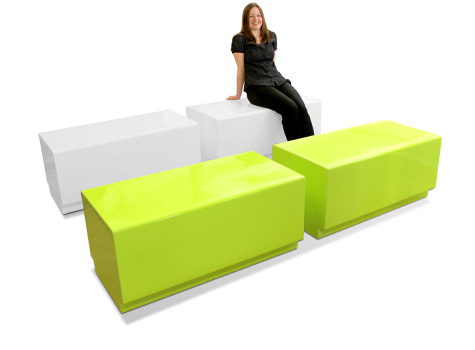 1. Bench composite moulded seating - tough and hard wearing.