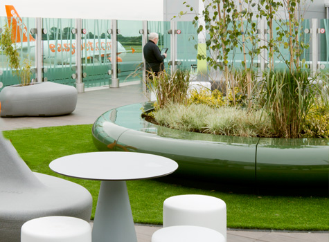 3. Bristol Airport roof terrace with Corona seating and planter.