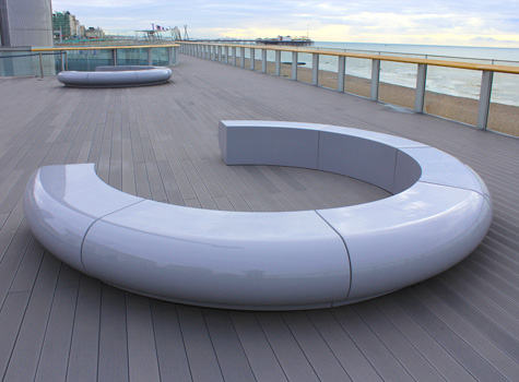 2. Corona seating at British Airways i360, Brighton.