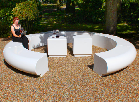 1. Corona creates a 'C-shaped' seating option for large contemporary spaces.