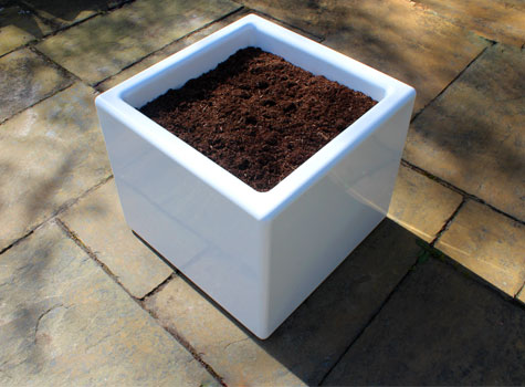 Cube Planters, practical modular sections for exterior and interior projects.