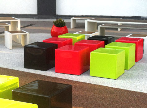 9. Cube practical modern seating for exterior and interior design projects.