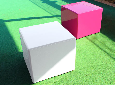 5. Cube seating and tables, in any colour.