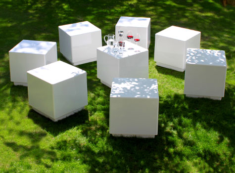 2. Practical modular seating for exterior and interior projects.