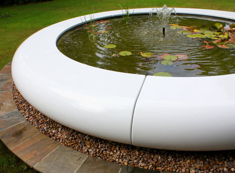 7. Aqua Corona - add beauty & value to garden landscapes with water features.