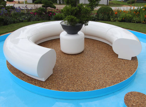 5. Halo circular seating arrangement, RHS Flower Show, Hampton Court.
