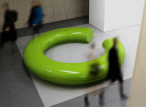 3. Halo modern seating for shopping centres, hotels and public spaces.