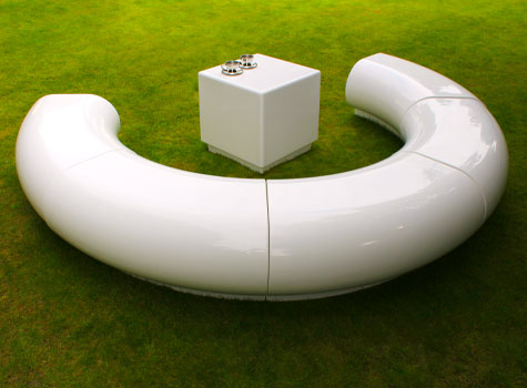 9. Modular sections for seating arrangements of meeting and breakout areas.