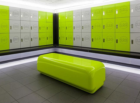 1. Morph bench style seating has been installed into Sweat! a chain of fitness gyms.