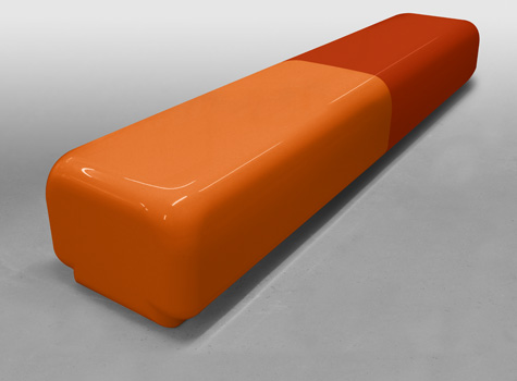 8. Morph bench large curves for schools, clubs, sports and leisure centres.