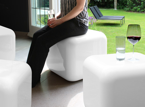 11. Quattro modern cubed seating with simple lines, big curves & great colours.