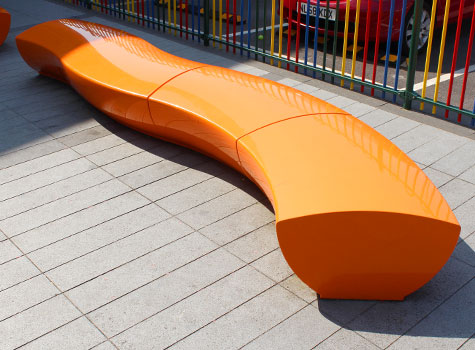 4. Serpentine seating available in any BS/RAL colour.