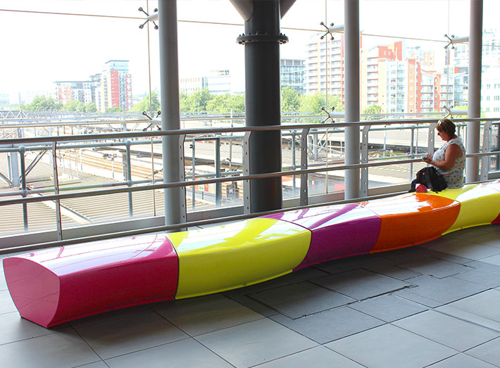Contrasting colours add a contemporary look to the station.