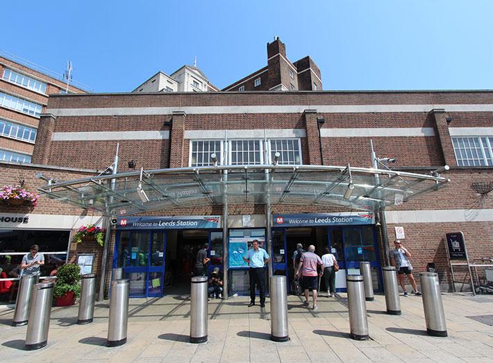 Leeds railway station.