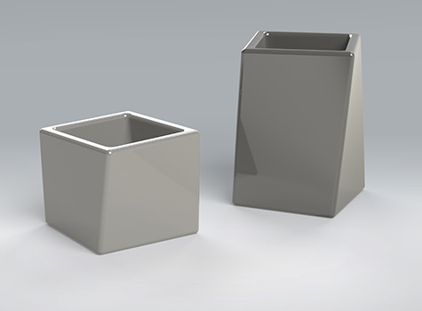 2. Matching stylish Twist planters for exhibitions, shows and conferences.