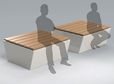 2. Designed as a standalone seat or in linear pairs or groups when space planning.