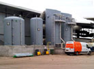 Industrial GRP Lining to existing and new sulphuric acid storage tank bunds.