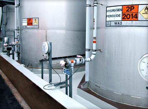 13. Large chemical bund fibreglass lining area.
