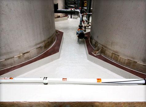 14. Large chemical bund lining area.