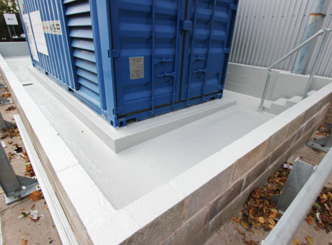 9. Bund area walls, floors and access steps sealed with a Sui Generis GRP lining.