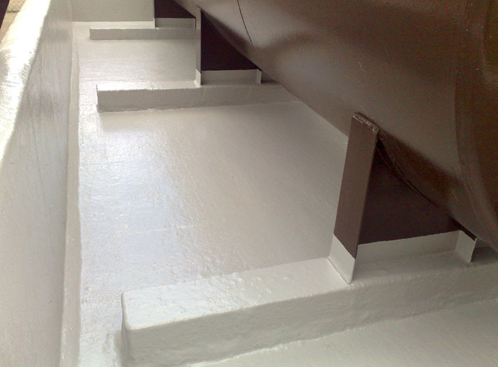 GRP lining now encloses all internal walls, floor, gullies and sumps.