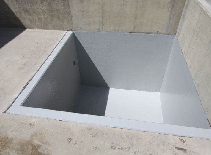 The bunded areas 3m deep pit completed first, with a waste water resistant GRP lining.
