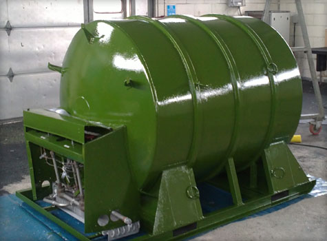 8. Tank coating completed with polyurethane top coat.