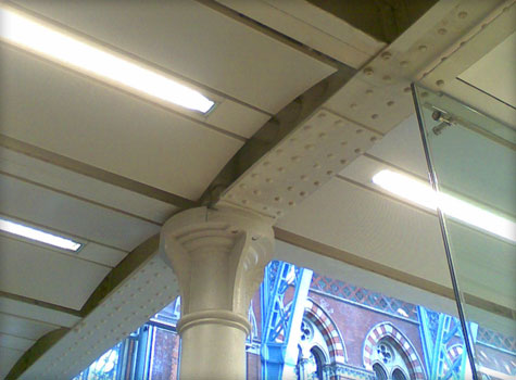 13. Intumesent coating to undercroft at St. Pancras Station.