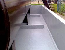 Bund repair and GRP lining