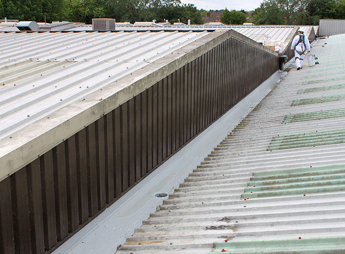 Industrial Roof Gutter Lining Grp Lining Sui Generis