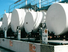 Cylindrical chemical tanks