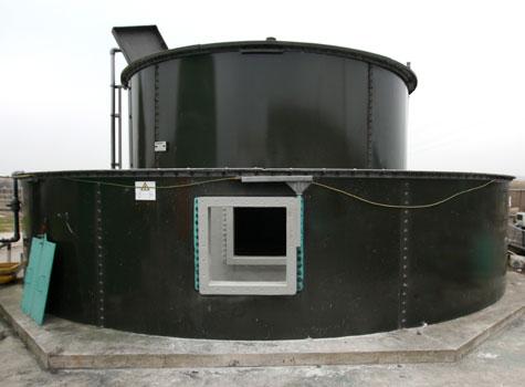 3. Bunded tank fibreglass lined.