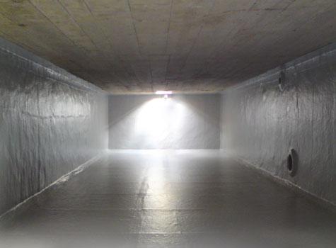 14. Fibreglass lining to water storage tanks.