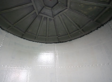 5. Fibreglass lining to match GRP tank cover.