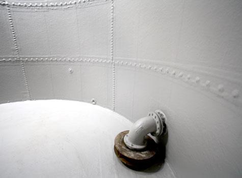 12. Seamless tank repair to sprinkler tank.