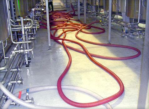 8. Bunded floor preventing sepage into the floor below.